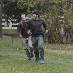 Bates &amp; Anthony running to the <a href=