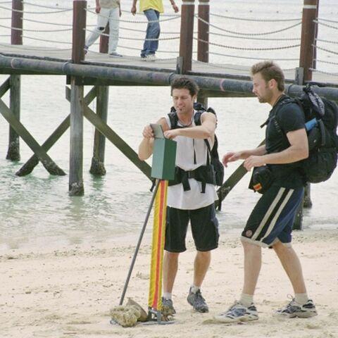 David & Jeff at the Roadblock on Leg 9 in Malaysia.