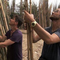Josh &amp; Brent doing the <i>Bamboo Jungle</i> Detour in <a href=
