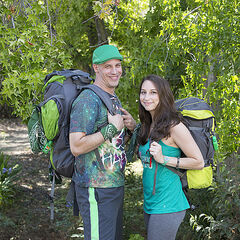 An alternate promotional photo of Justin &amp; Diana for <i>The Amazing Race</i>.