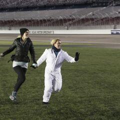 Caroline &amp; Jennifer run to the <a href=
