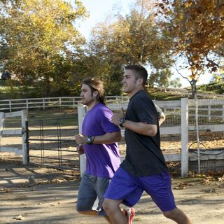 Elliot &amp; Andrew running to the <a href=