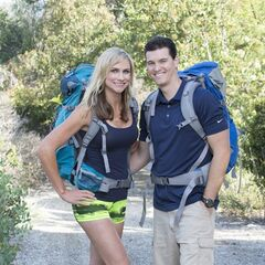 An alternate promotional photo of Kelsey &amp; Joey for <i>The Amazing Race</i>.