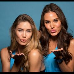 An Alternate promotional photo of Jessica &amp; Brittany for <i>The Amazing Race</i>.