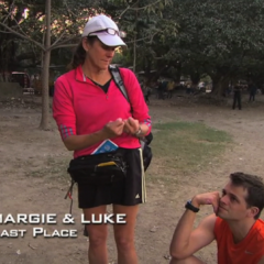 Margie & Luke were eliminated from the race in 8th place.