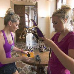 Ally &amp; Ashley starting the <i>Masquerade</i> Detour in <a href=