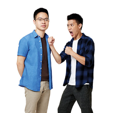 An alternate promotional photo of Brandon &amp; Alphaeus for <i>The Amazing Race Asia</i>.