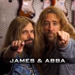 James & Abba's opening pose.