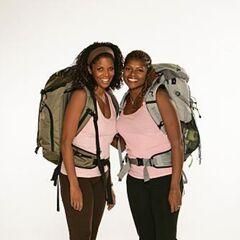 Monique &amp; Shawne's alternate promotional photo for <i>The Amazing Race</i>.