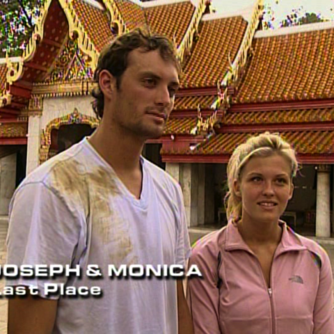 Joseph & Monica were eliminated from the race in 4th place.