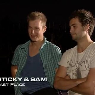 Sticky & Sam were eliminated from the race in 7th Place.
