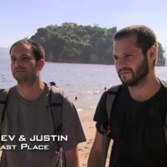 Zev & Justin were eliminated from the race in 4th place.