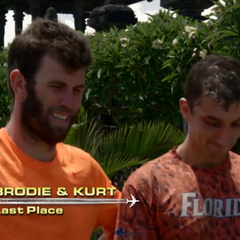 Kurt & Brodie are eliminated from the Race in 5th place.