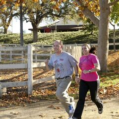 Dave &amp; Cherie running to the <a href=