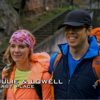 Julie & Lowell are eliminated from the race in 6th place.