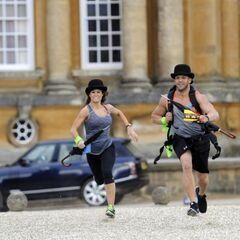 Brooke &amp; Robbie running to the <a href=