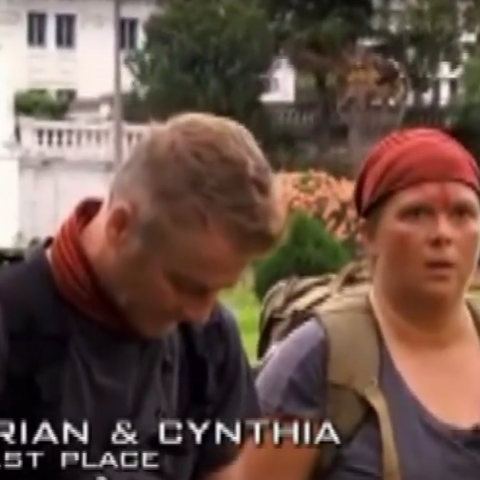 Brian & Cynthia were eliminated from the race in 6th place.