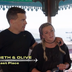 Seth & Olive are eliminated from the race in 9th place.