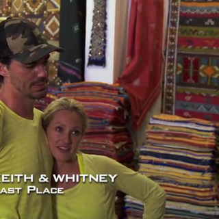 Keith & Whitney were eliminated from the race in 8th place.