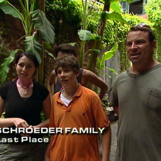 The Schroeders were eliminated from the race in 7th place in their hometown.