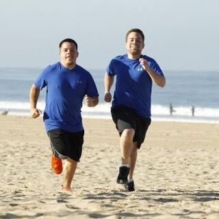 Alex &amp; Adam running to the <a href=