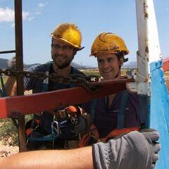 Josh &amp; Brent doing the <i>Spin It</i> Detour in Leg 10.