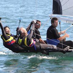 Ron &amp; Christina sailing in <a href=