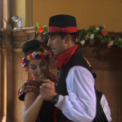 Amy &amp; Jason doing the <i>Polka</i> Detour on <a href=