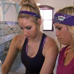 Ally &amp; Ashley doing the <i>Tiles</i> Detour in <a href=