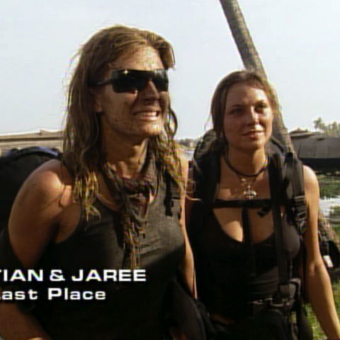 Tian & Jaree were eliminated from the race in 6th place.