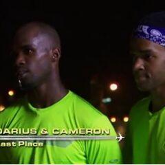 Darius & Cameron are eliminated in 10th Place.