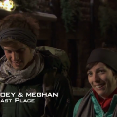 Joey & Meghan are eliminated from the race in 5th place.