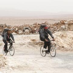 Chester & Ephraim on Bicycles.