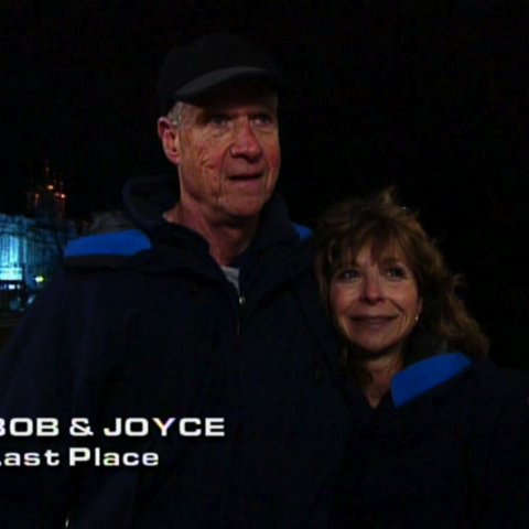 Bob & Joyce were eliminated from the race in 8th place.
