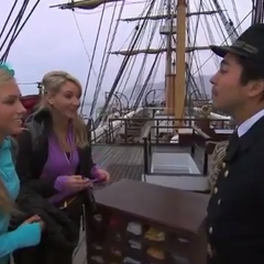 Ally &amp; Ashley on the ship in <a href=