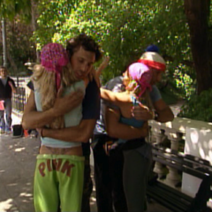 Brian & Greg gave Megan & Heidi a tearful goodbye after Megan & Heidi's elimination.