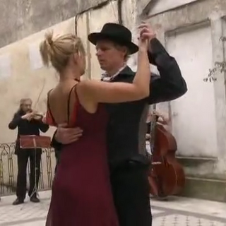 Ashleigh &amp; Jarrod at the <i>Tango</i> Detour in Buenos Aires, Argentina.