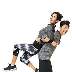 An alternate promotional photo of Lisa &amp; Nicole for <i>The Amazing Race Asia</i>.