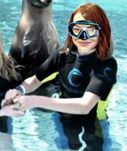 Emma Stone as a marine biologist