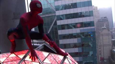 Spider-Man Swings Into Time's Square on New Year's Eve