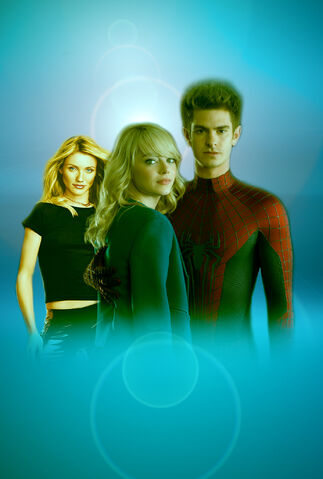 File:Promotional art of Andrew Garfield, Emma Stone & Cameron Diaz in The Amazing Spider-Man 2 (2014).jpg