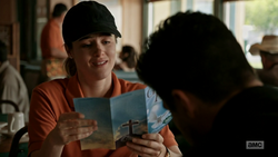 Emily and Jesse review a pamphlet for a rival church