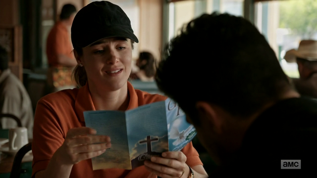 File:Emily and Jesse review a pamphlet for a rival church.png
