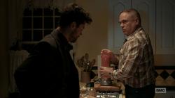 Hugo makes a shake for Eugene