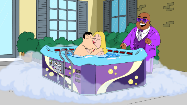 hot tub of love american dad wikia fandom powered by wikia. Black Bedroom Furniture Sets. Home Design Ideas