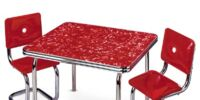 Chrome Table and Chairs