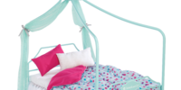 Canopy Bed and Bedding Set
