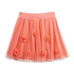 CoralFloralSkirt girls