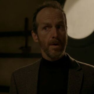 Denis O'Hare in the role of the re-enacted <a href=