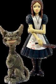Alice and Cheshire figure